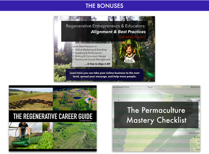 The advanced permaculture student online by matt powers kickstarter regenerative entrepreneurs educators alignment best practices start your business based on best practices reach more people fund your message fandeluxe Image collections