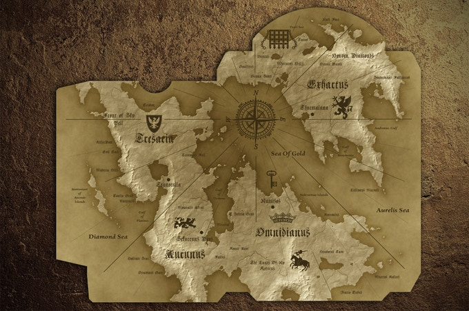 The Map of Four Kingdoms Islands (inside)