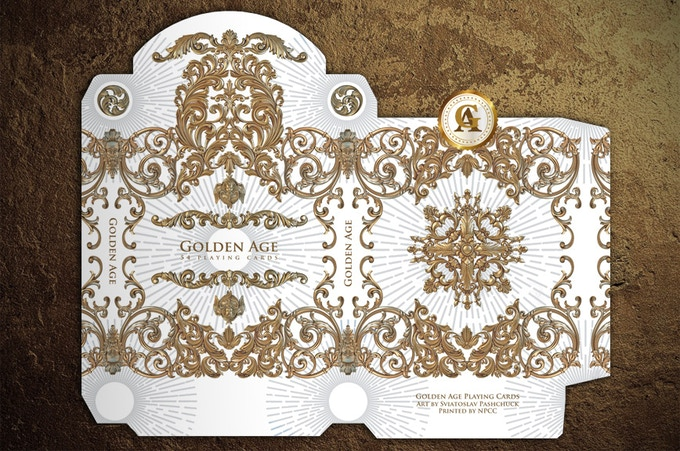 Winter Edition Golden Age Playing Cards Box