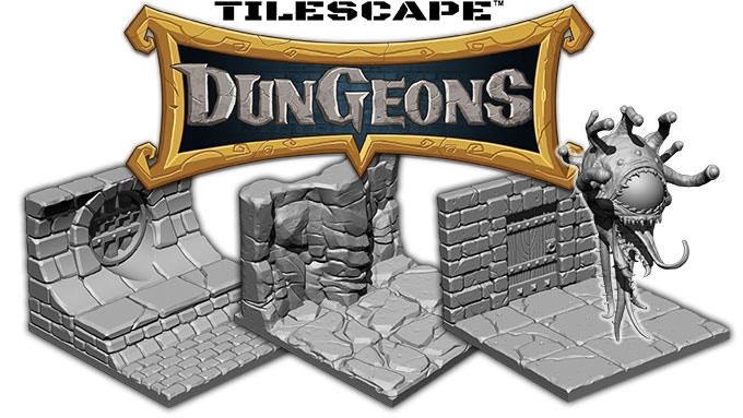 Tilescape™ is a 3D printable terrain system that is designed for any types of miniatures from 28mm up to 32mm heroic-sized.