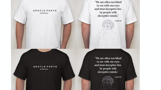 [GentlePoets] OverSize Poetry T-Shirt