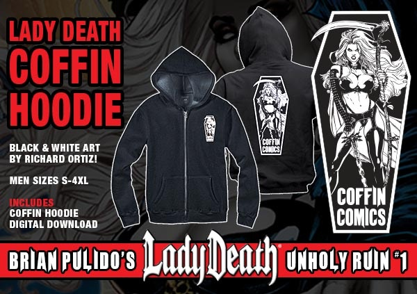 BRIAN PULIDO'S NEWEST: LADY DEATH: UNHOLY RUIN #1! by Brian