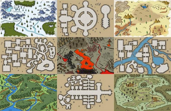 Sample 11x17 maps.