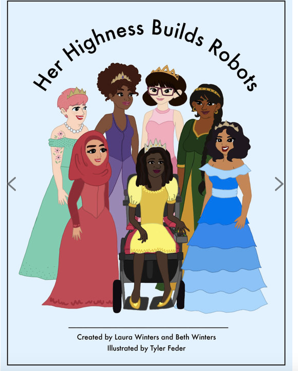 Her Highness Builds Robots Coloring Book with $100 donation