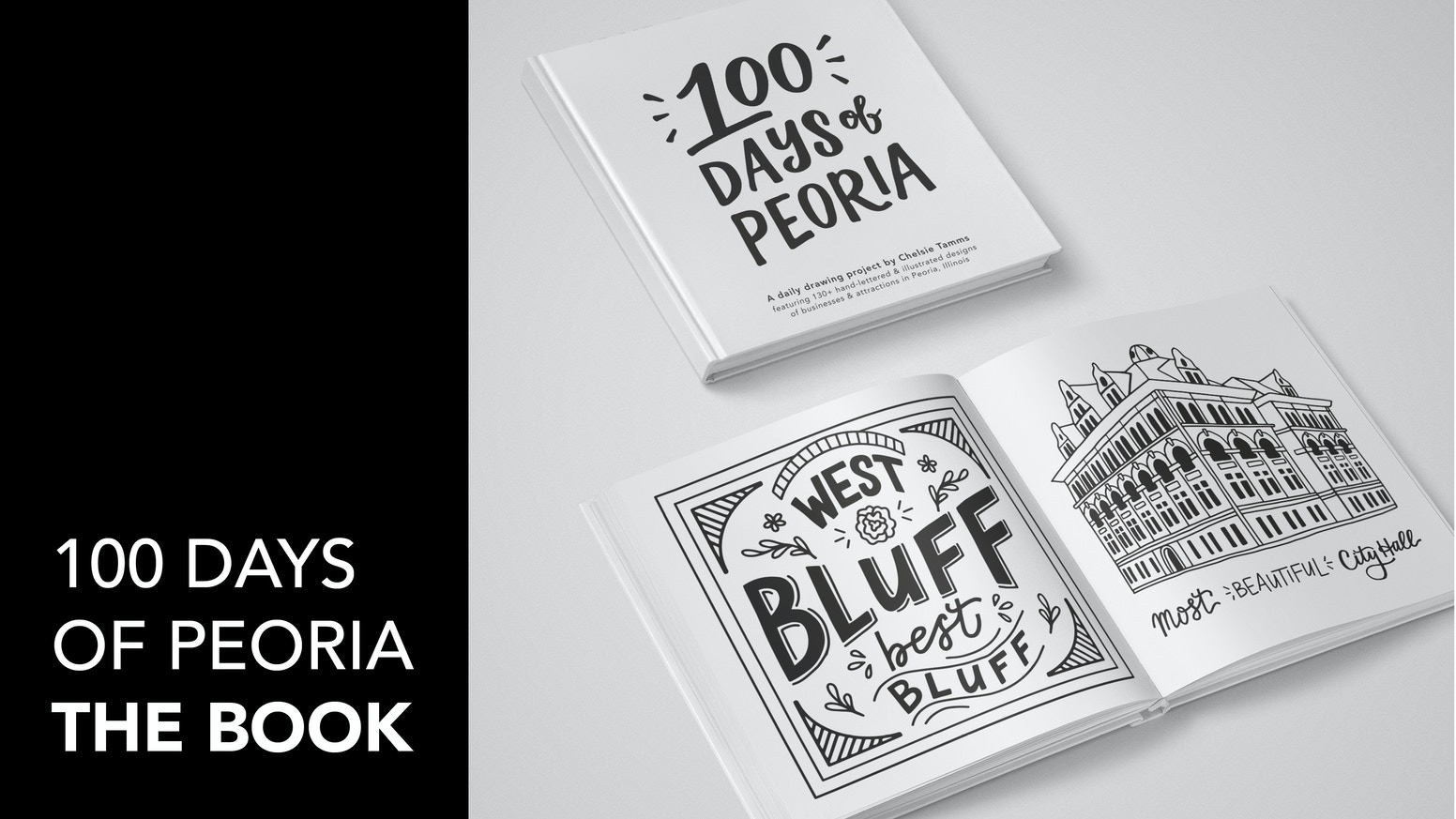 A coffee-table book featuring 130+ hand-lettered & illustrated designs of businesses & attractions in Peoria, IL • Projects of Earth