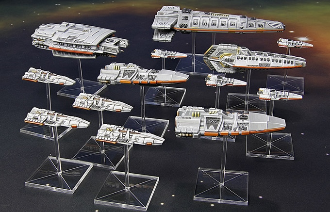 A Terran Alliance fleet advances through the Storm Zone.
