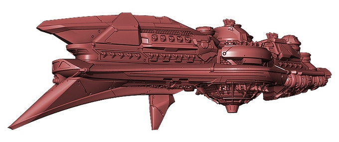 The Saurian Military Heavy Battleship will pack a major punch on any battlefield.