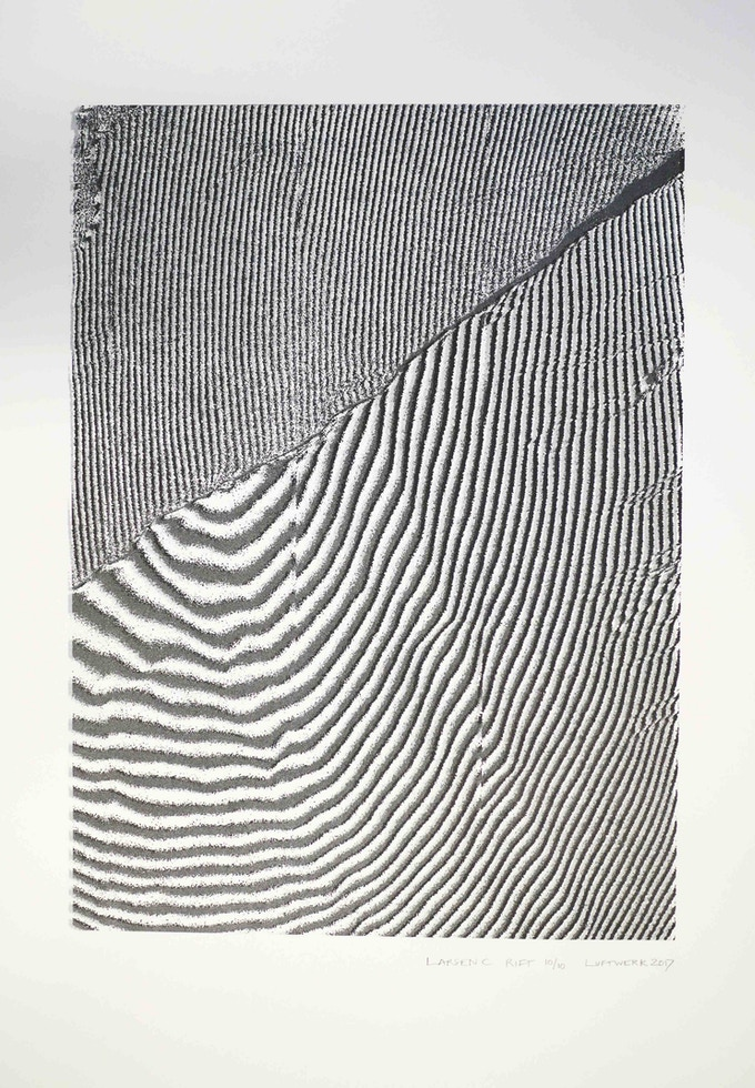 "Larsen C Rift, 22""x30"", Edition of 10 [Antarctic Art Lover & Larsen C Reward Level]"