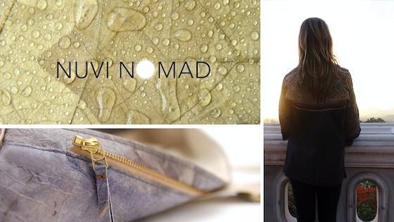 NUVI NOMAD featuring vegan leaf leather accessories