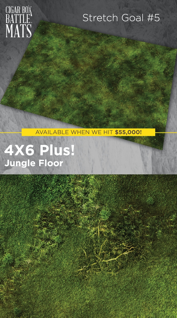 JUNGLE FLOOR design available when we reach $55,000