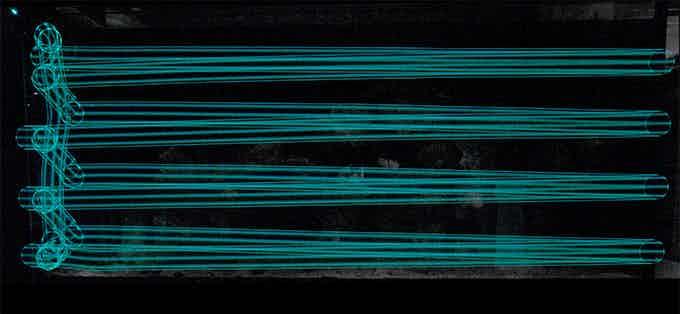 Long Exposure Photo of a MOAI's Path (150cm length, 6 mins )