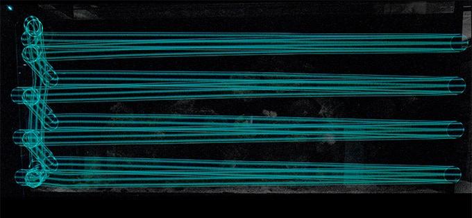 Снимок с длинной выдержкой из MOAI's Path (длина 150 см, 6 минут)