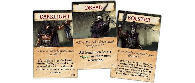 An example of the various darkhold cards