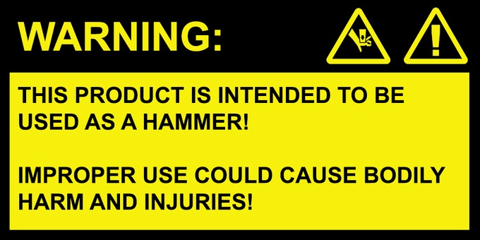 Product Warning/Safety Glasses Recommended