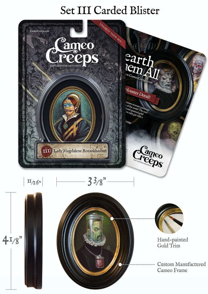 Each Cameo Creep frame is painted by hand.