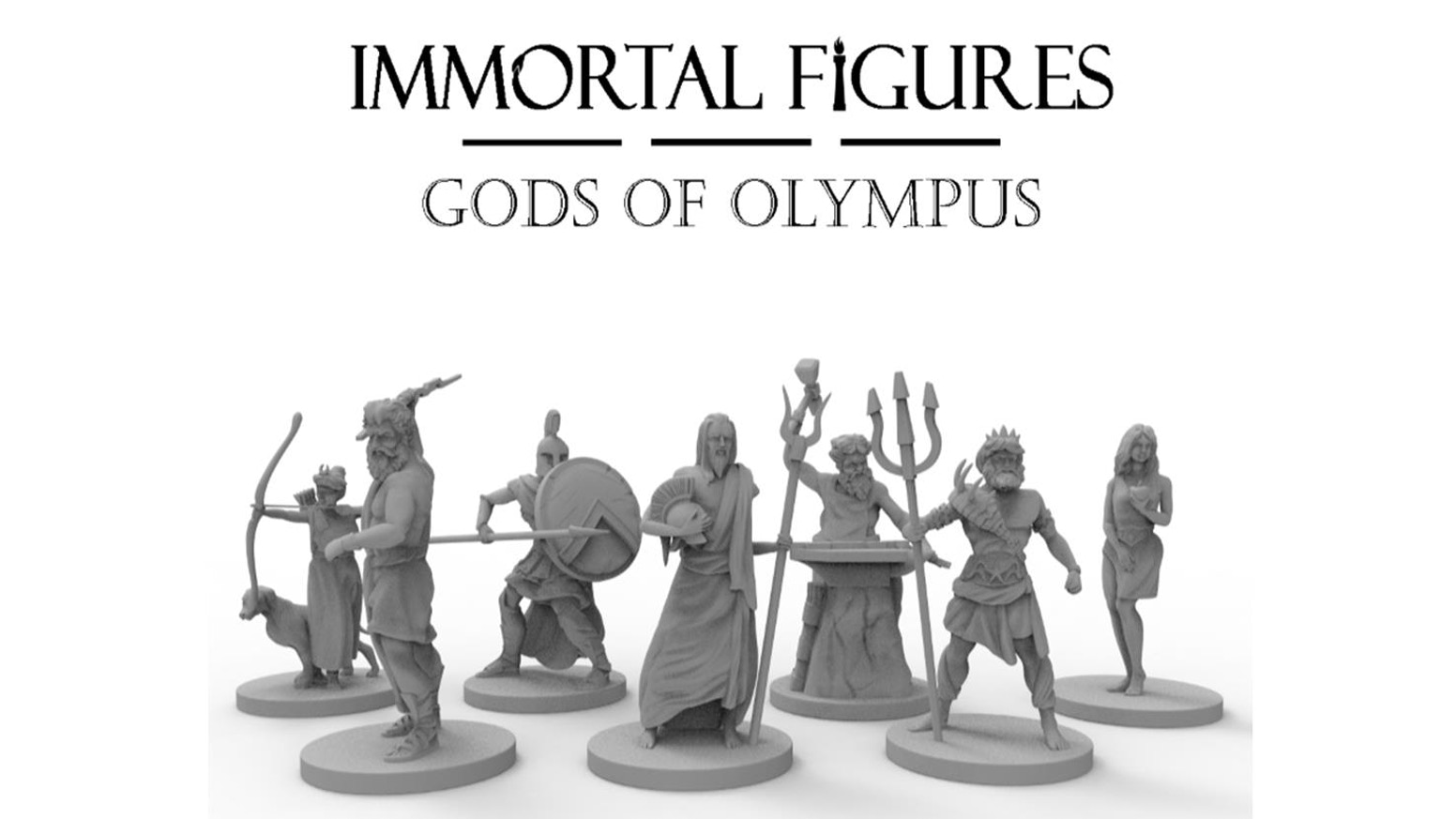 High quality 28/32 mm scale tabletop gaming miniatures based on the Gods and Goddesses of Greek Mythology.