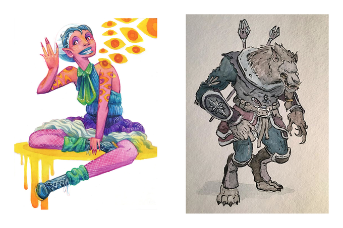 Kate Sherron and Matt Crotts Watercolor Commissions