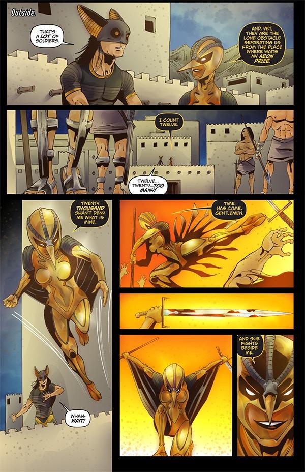 Cygnet stalks her prey...