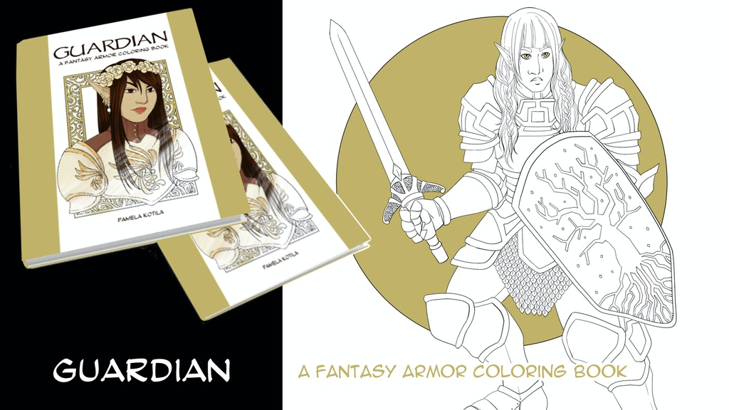 Guardian: a Fantasy Coloring Book of Women in Armor project video thumbnail