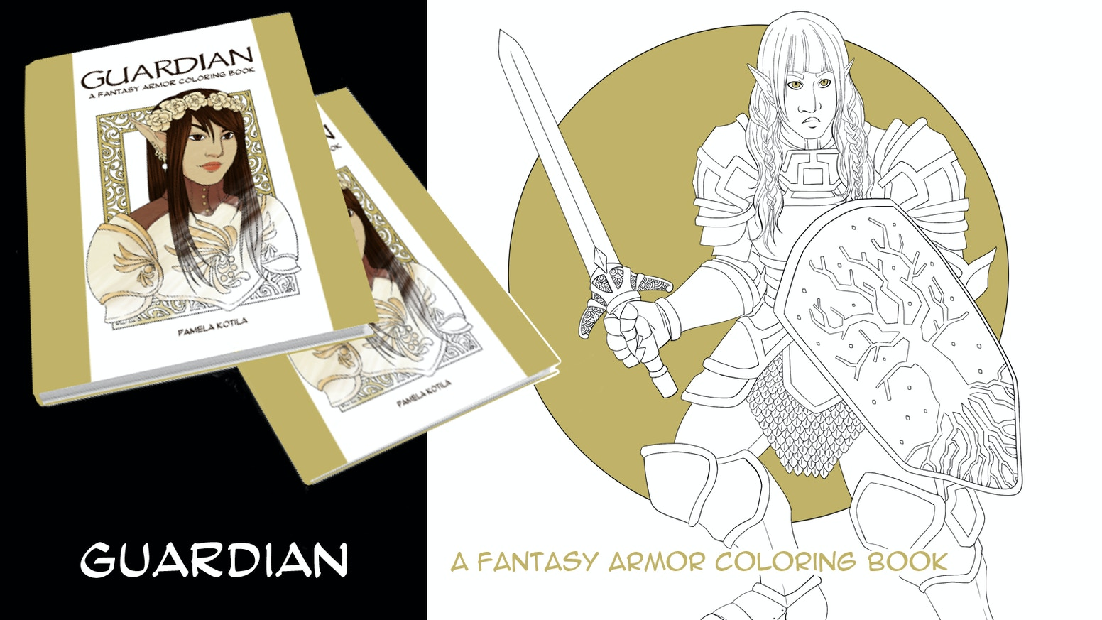 This coloring book features women and femme mages, rogues, and warriors in a variety of fantasy costumes and armor!