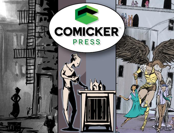 "Header image for our ""Comicker Press Launches!"" Kickstarter Campaign"