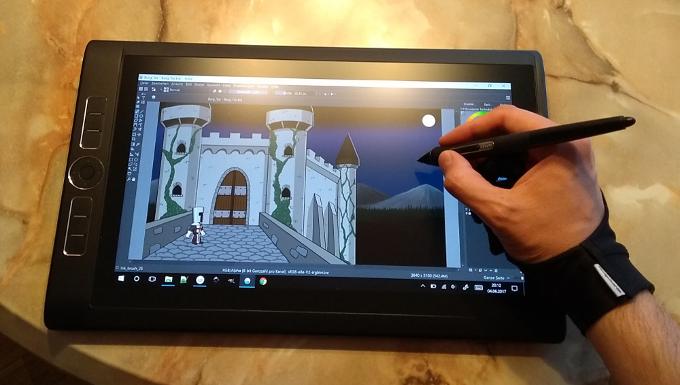 Drawing the castle / Das Schloss wird gezeichnet