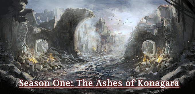 The story begins as soon as our game ships with Season One: The Ashes of Konagara