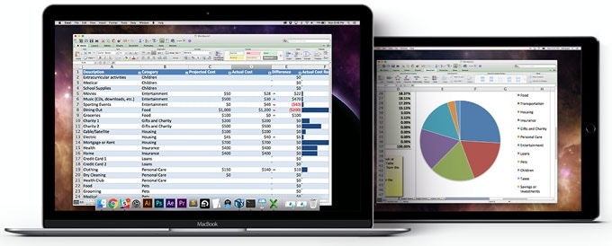 how to bring the work back on exel macbook air