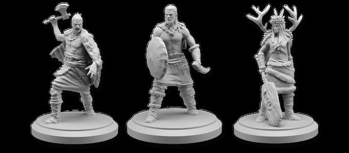 Chieftain, Tribe Warrior, and Bear Shaman