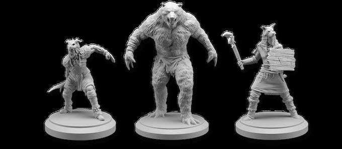 Berserker, Werebear, and Tribe Wildguard