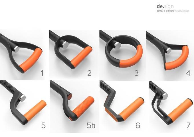 Design options for the handle - we opted for Nr. 6!