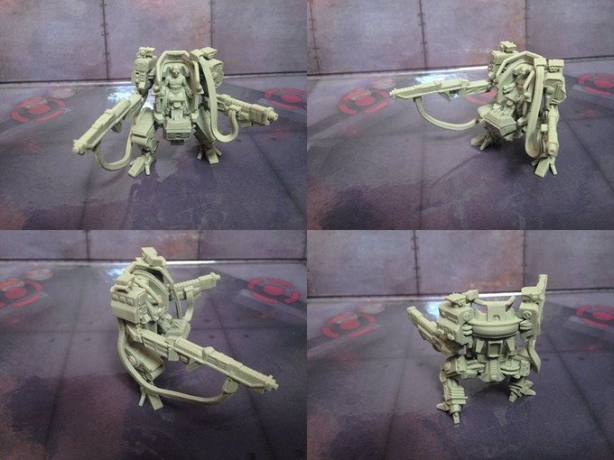 Steel Mech resin prototype.