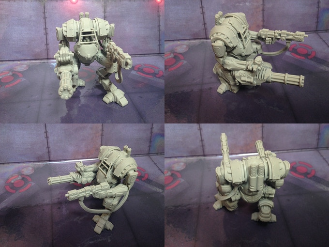 Iron Mech resin prototype.