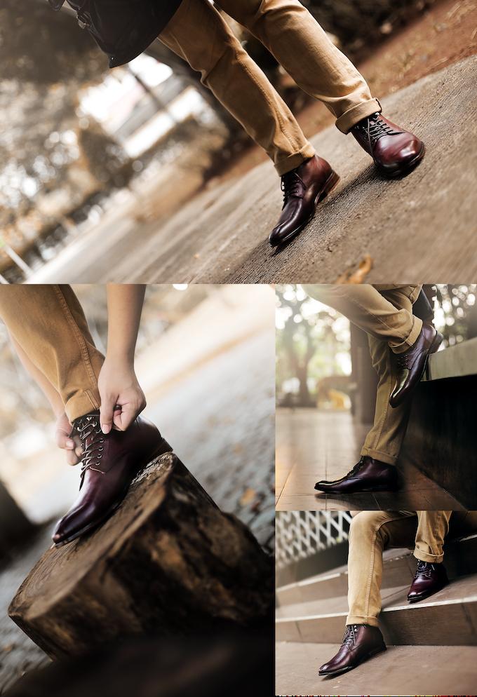 Loki Plain Toe in burgundy color