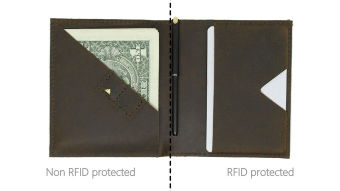 Front half of Mark Bifold is non RFID so that you can still scan your commuting card without removing it. The rest of the cards stays protected on the other half.