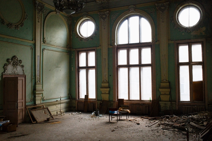 Former Lviv Jewish museum at 12 Sholem Aleichem Street (former Bernstein)