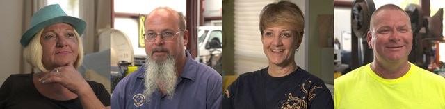 Residents: Tammy Mistrot (formerly homeless), Larry Crawford (Director of Maintenance), Nancy Miller (missional resident), Joel Jackson (work camper).