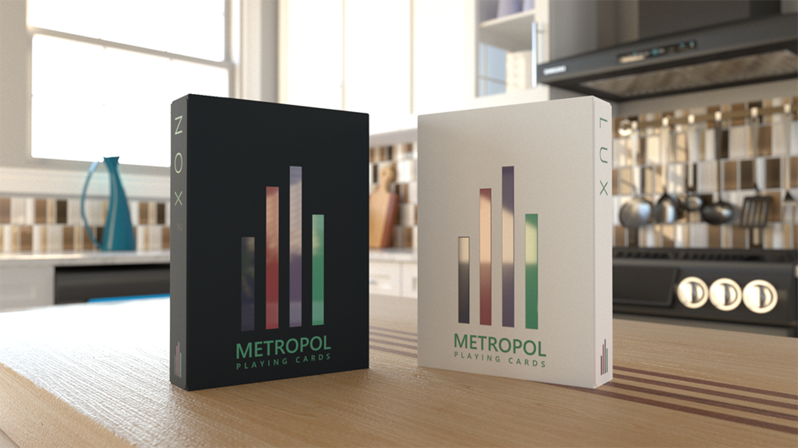 Classic Metropol Playing Card design, fresh new colour palette.