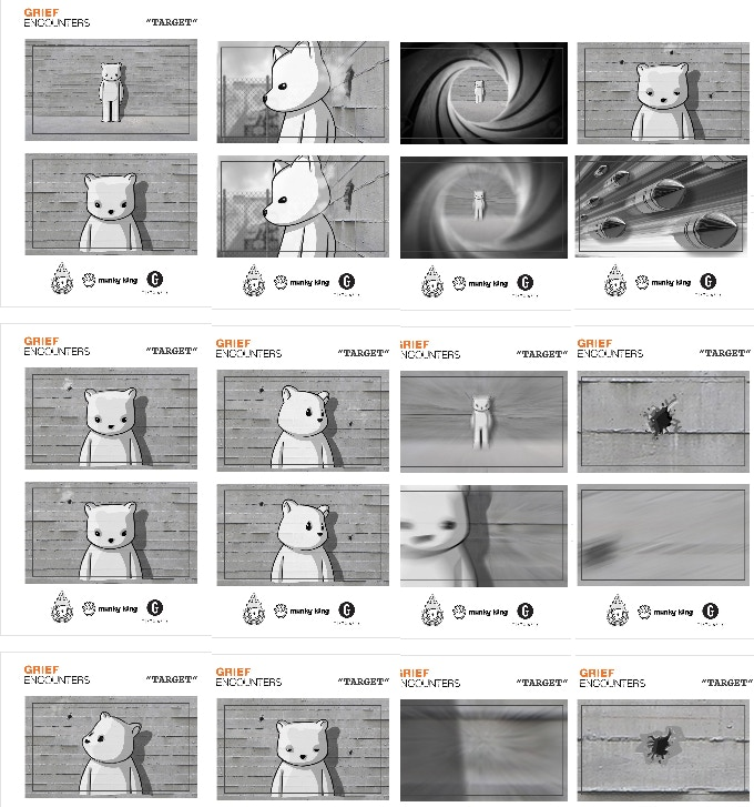 Grief Encounters: Target Storyboards