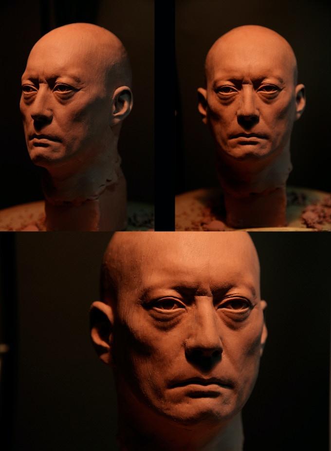 The Haunted Swordsman. Sculpture by Arjen Tuiten