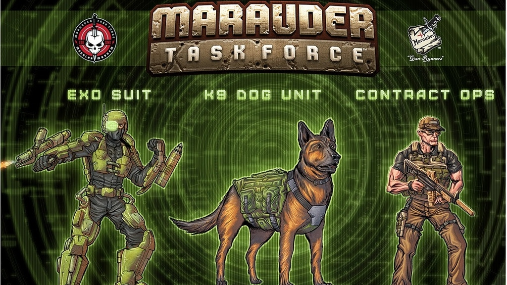 Marauder Task Force 1:18th K9 Dog, Exo Suit & Contract-Ops! project video thumbnail