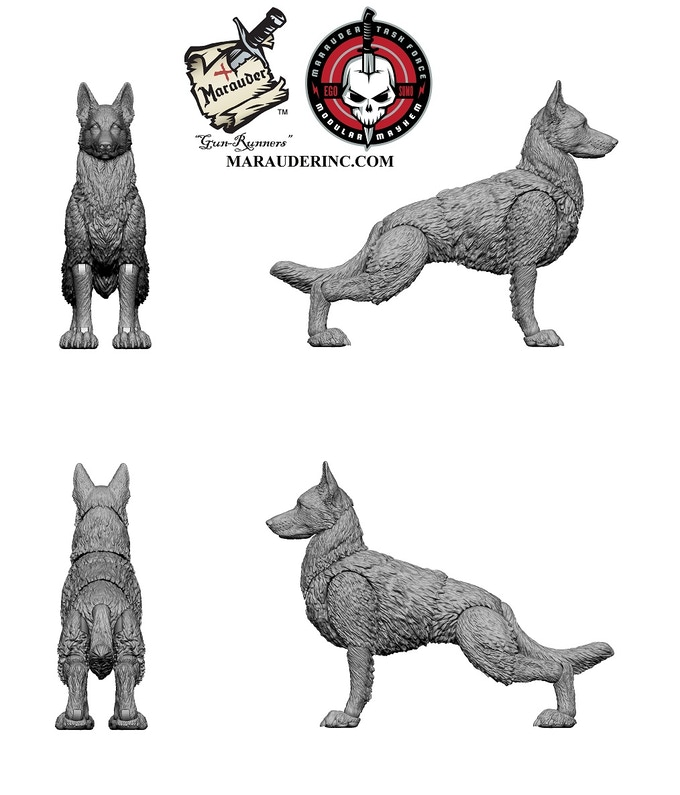 Marauder Task Force 1:18th K9 Dog, Exo Suit & Contract-Ops