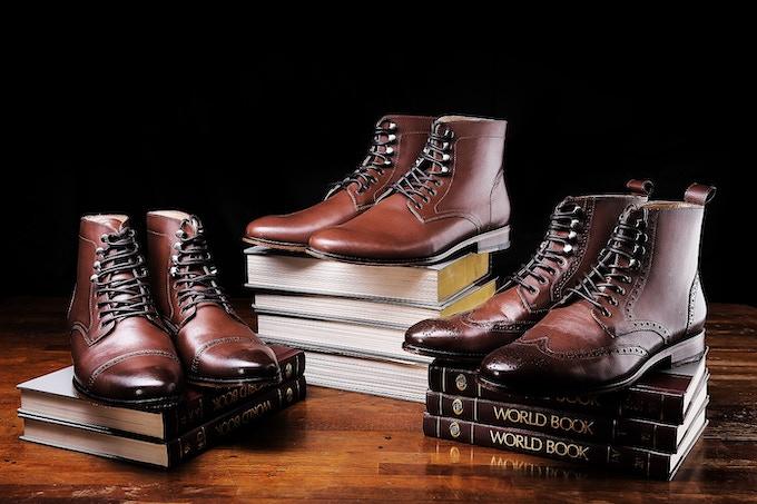 Loki series in brown full grain leather