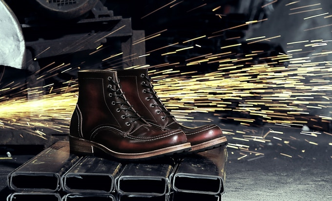 The Heimdall Original Moctoe will be available in brush off brown, burgundy & black pull up leather