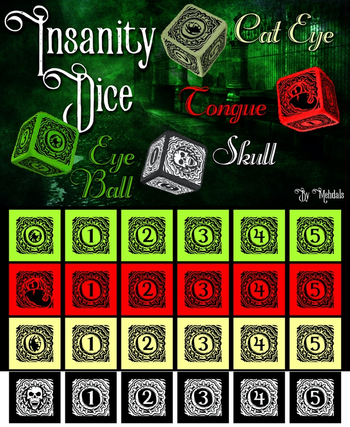 Insanity Dice Set