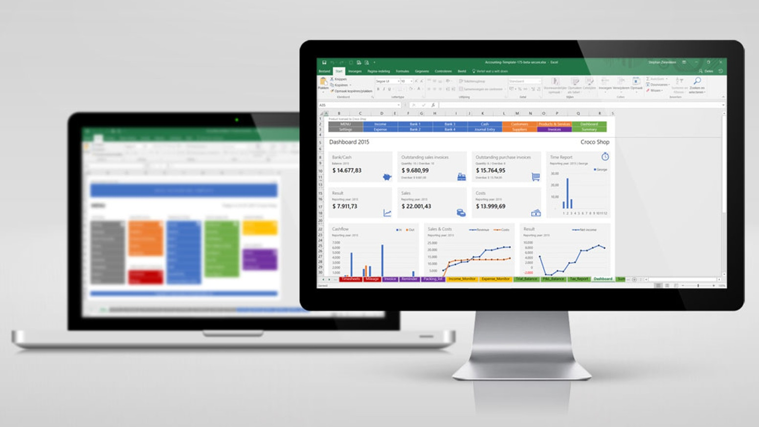 Excel accounting template by stephan zwanikken kickstarter the all in one accounting solution in excel for small business owners wajeb