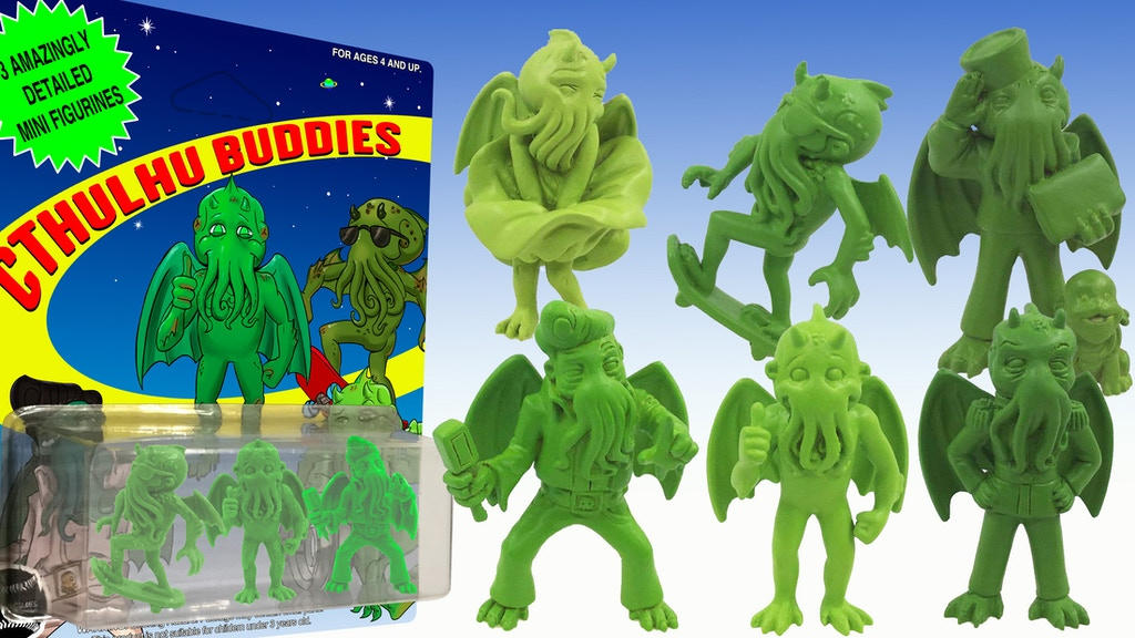 Project image for CTHULHU BUDDIES MINI FIGURES & STICKER CARDS