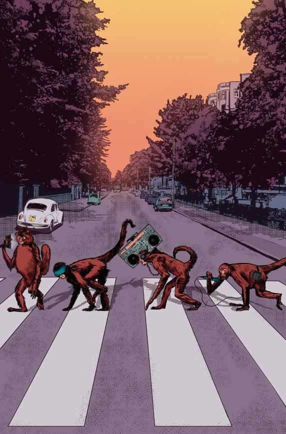 We need to all come together... right now... over this Abbey Road inspired pin-up by Salomon Farias!