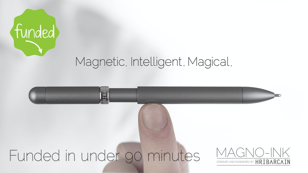 The World's Most Intelligent Magnetically Energised Pen. project video thumbnail