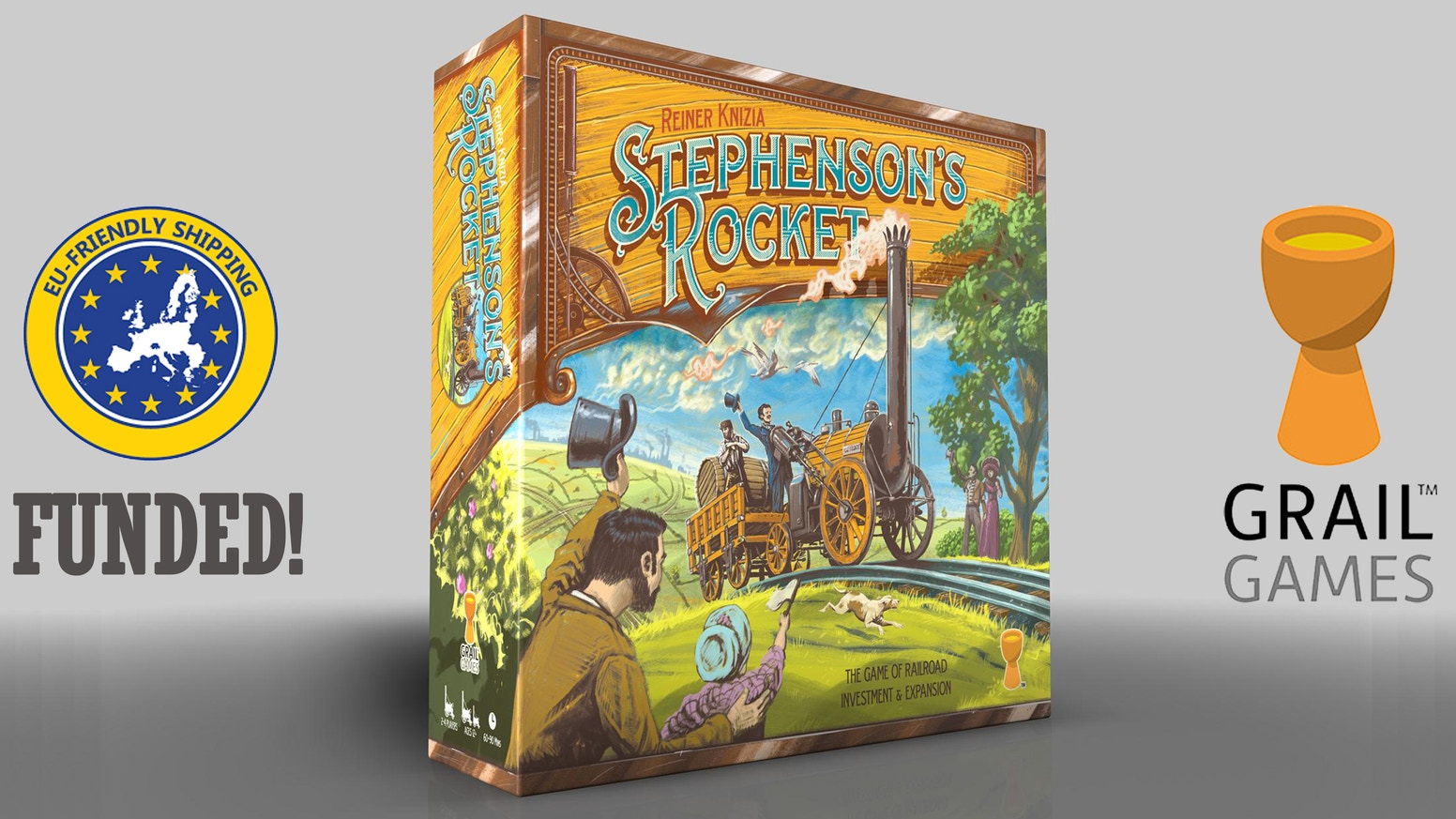 In 1999, Dr Reiner Knizia designed a classic game about a classic train. Now, with A+ illustrator Ian O'Toole, we're bringing it back!